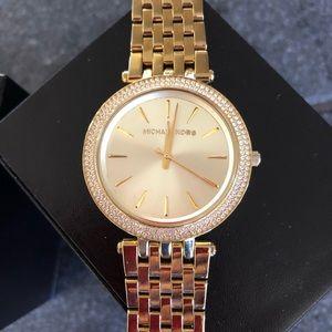 Like new Michael Kors Darci gold watch 39mm